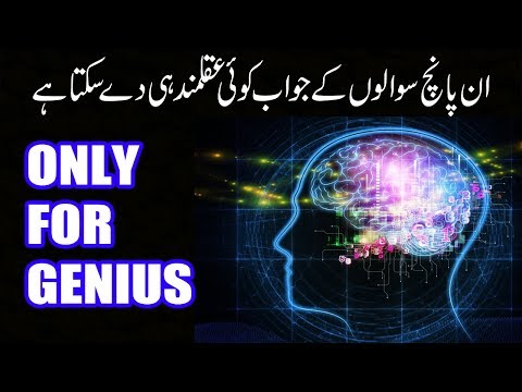 5 Simple Questions Only a Genius Can Answer (urdu/hindi) | I