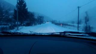 Lada 1117 fast driving in the snow (Full HD)