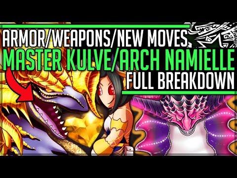 MASTER RANK KULVE + ARCH NAMIELLE - Equipment/Gameplay Breakdown - Monster Hunter World Iceborne! |