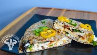 Fit Men Cook Tex-mex Chicken Quesadilla (de Pollo) - Protein Packed!