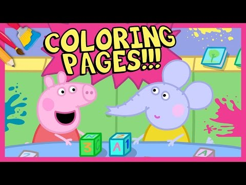 new-peppa-pig-coloring-pages---emily-elephant-playing-building-blocks-with-peppa-pig