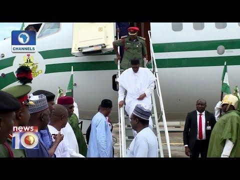 President Buhari Returns To Abuja