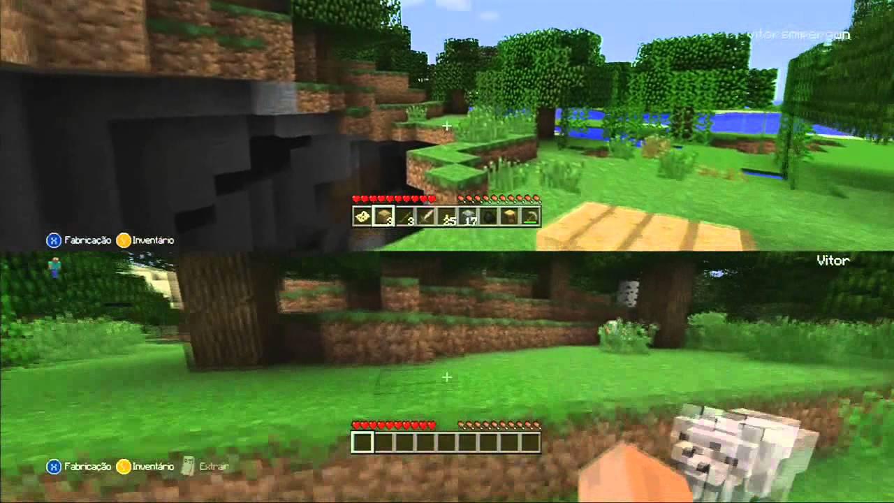 Minecraft xbox 360 1 construindo a casa perigosa youtube for Casa moderna minecraft xbox 360
