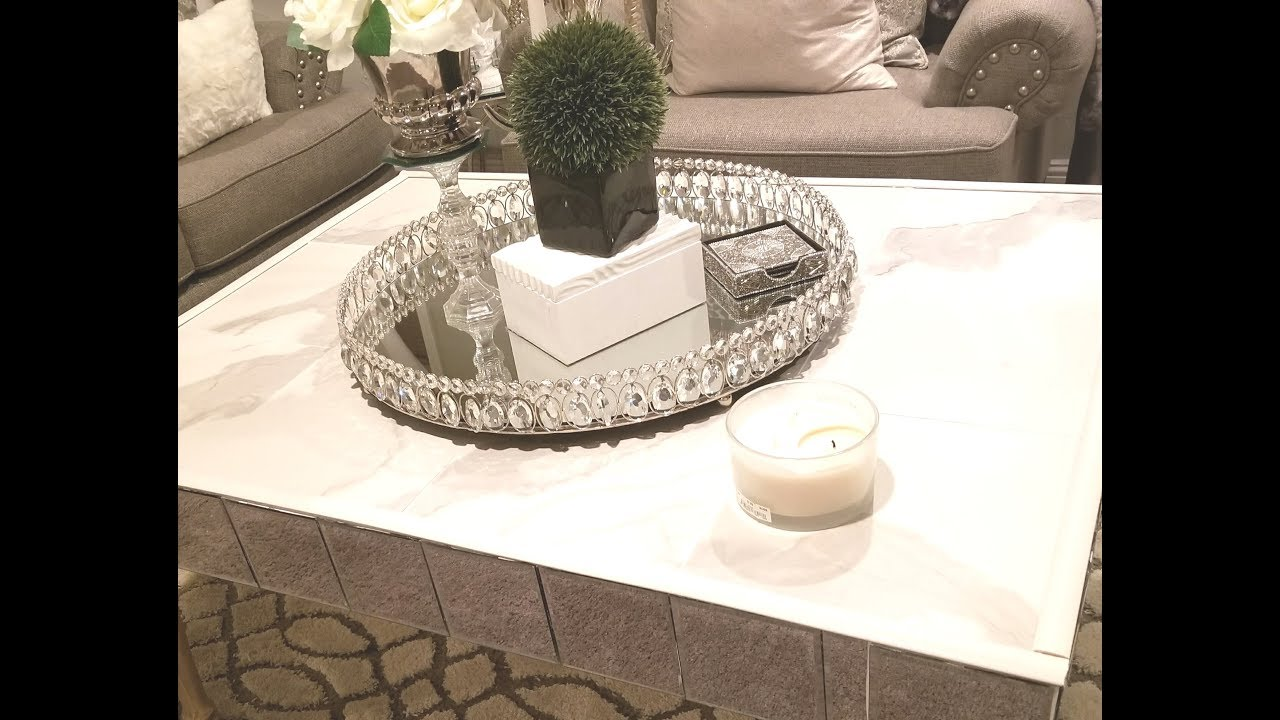 Diy Glam Marble Coffee Table No Contact Paper Youtube