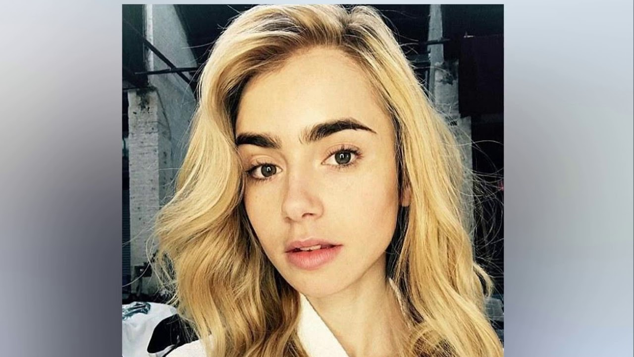 Lily Collins Debuts New Blonde Hair In Selfie On Instagram Youtube