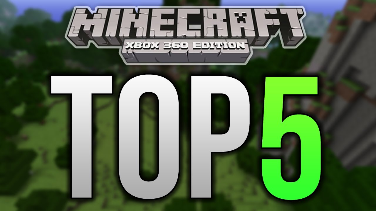 Top 5 Minecraft Xbox 360 Structures - REDSTONE CREATIONS
