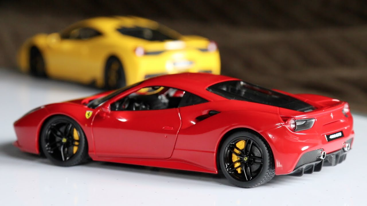 review 1 18 scale bburago ferrari 488 gtb youtube. Black Bedroom Furniture Sets. Home Design Ideas
