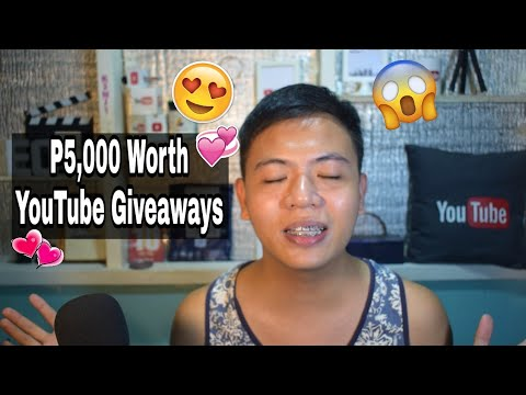 5000 PHP Worth YouTube GIveaways from Trip na Trip