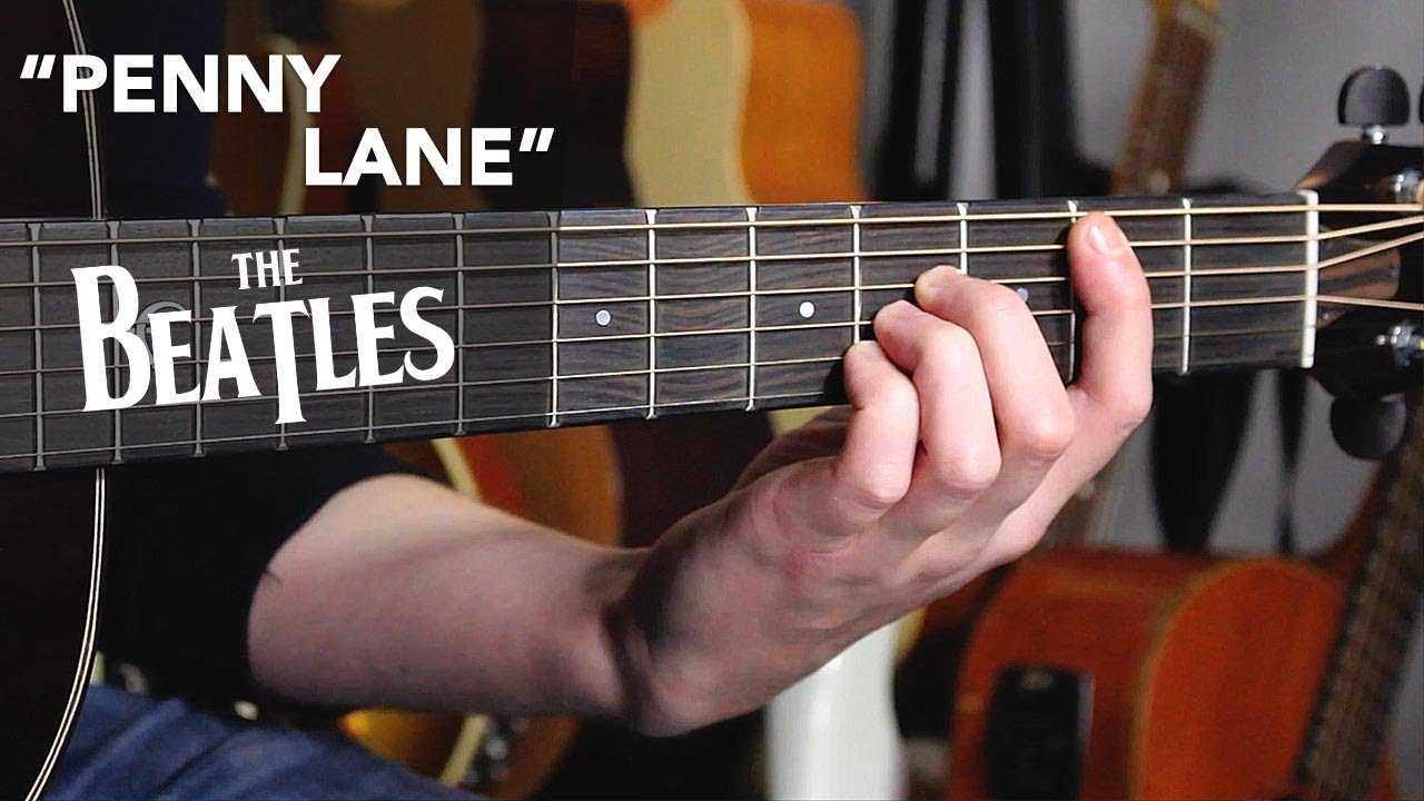 "The Beatles ""PENNY LANE"" guitar tutorial - how to play with simple chords"
