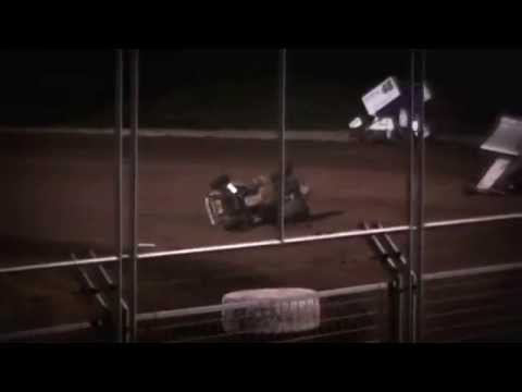 Sprint Car Crash @ Southern Oregon Speedway 6/29/15