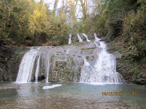 3 водопада в Сочи которые стоит посмотреть. Агурский, Ажек, Ореховский.