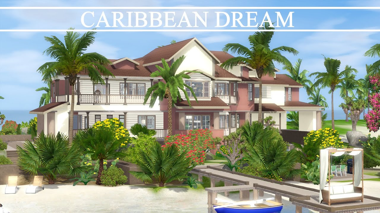 The sims 3 house building caribbean dream speed build for Best house designs for the sims 3