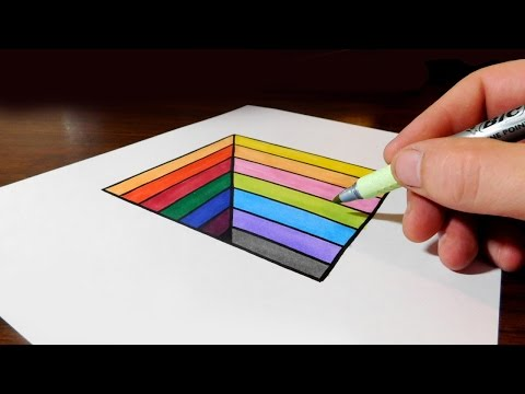 Thumbnail: How to Draw an Easy Anamorphic Hole for Kids - Trick Art on Paper