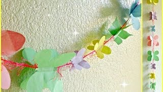 *kid Crafts*: Spring Butterfly Garland!