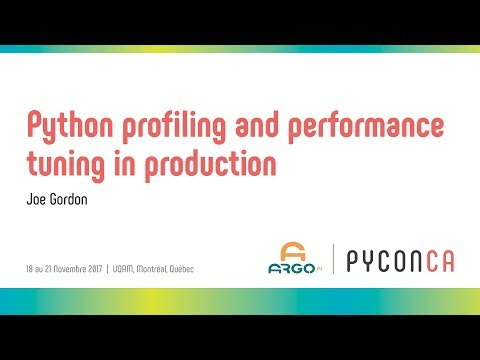 Image from Python profiling and performance tuning in production
