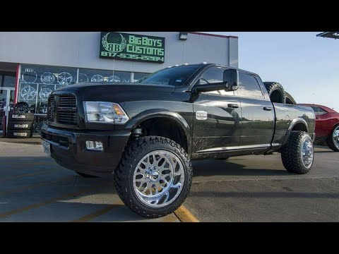 "2012 RAM 2500 Cummins on 22x14 Fuel Forged Wheels, 35"" Nitto Tires on a LEVELING Kit! - YouTube"