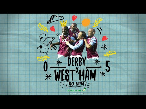 WATCH LIVE: DERBY COUNTY VS WEST HAM UNITED | WATCH THE HAMMERS HIT FIVE AGAINST THE RAMS