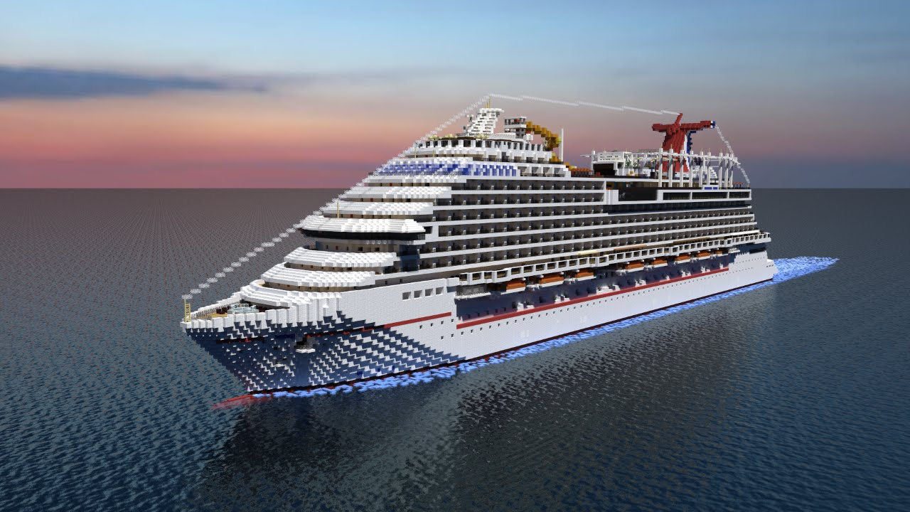 Minecraft Cruise Ship- Carnival Vista! [1:1 Scale][Full ...