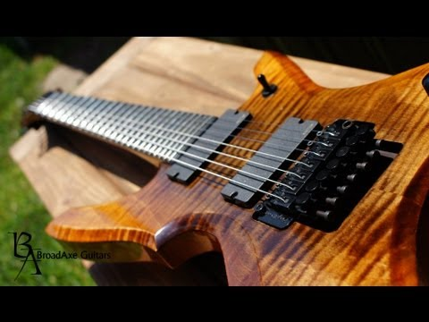 "BroadAxe Guitars Custom 7 String ""Falchion"" Demo"