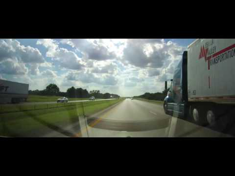 Driving on Interstate 10 from Columbus, TX to Seguin, Texas