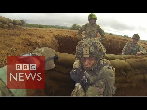 Inside British Army training mission in Kenya - BBC News