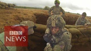 Inside British Army training mission in Kenya - BBC News