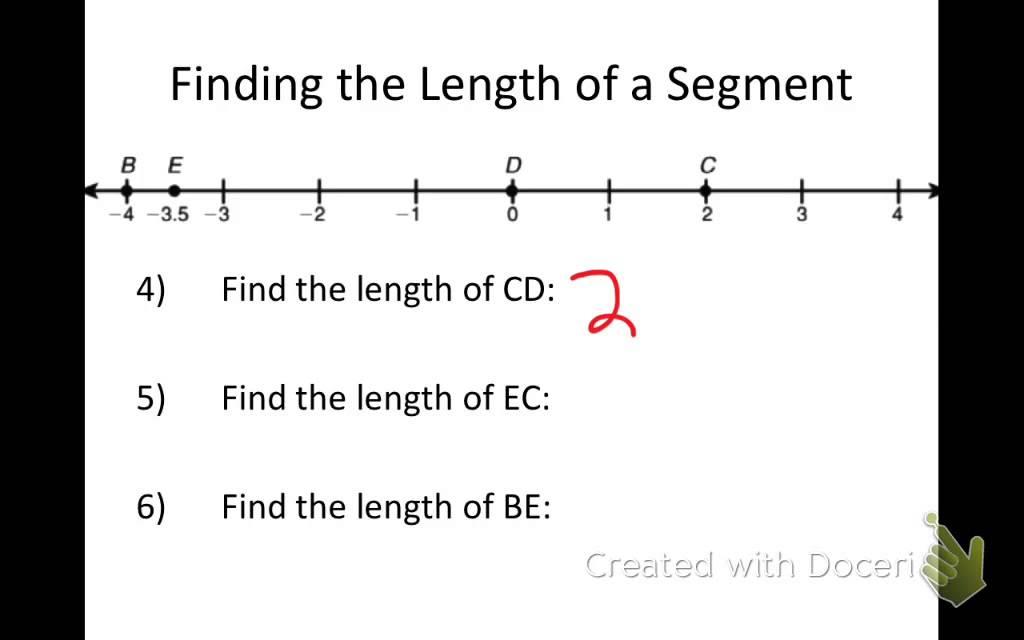 Printable Worksheets measuring line segments worksheets : Section 1.2 (Measuring and Constructing Segments) (2015) - YouTube