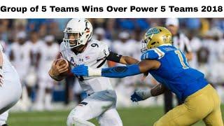 College Football: Group of 5 Teams Beating Power 5 Teams 2018 (Part 1)