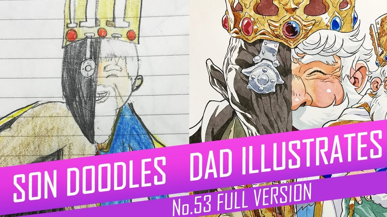 Watch this Animator Turn His Son's Doodles into Detailed Illustrations