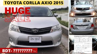 TOYOTA AXIO 2015   TOYOTA COROLLA AXIO PRICE IN BANGLADESH   NON HYBRID AXIO 2015   Car Mods BD  