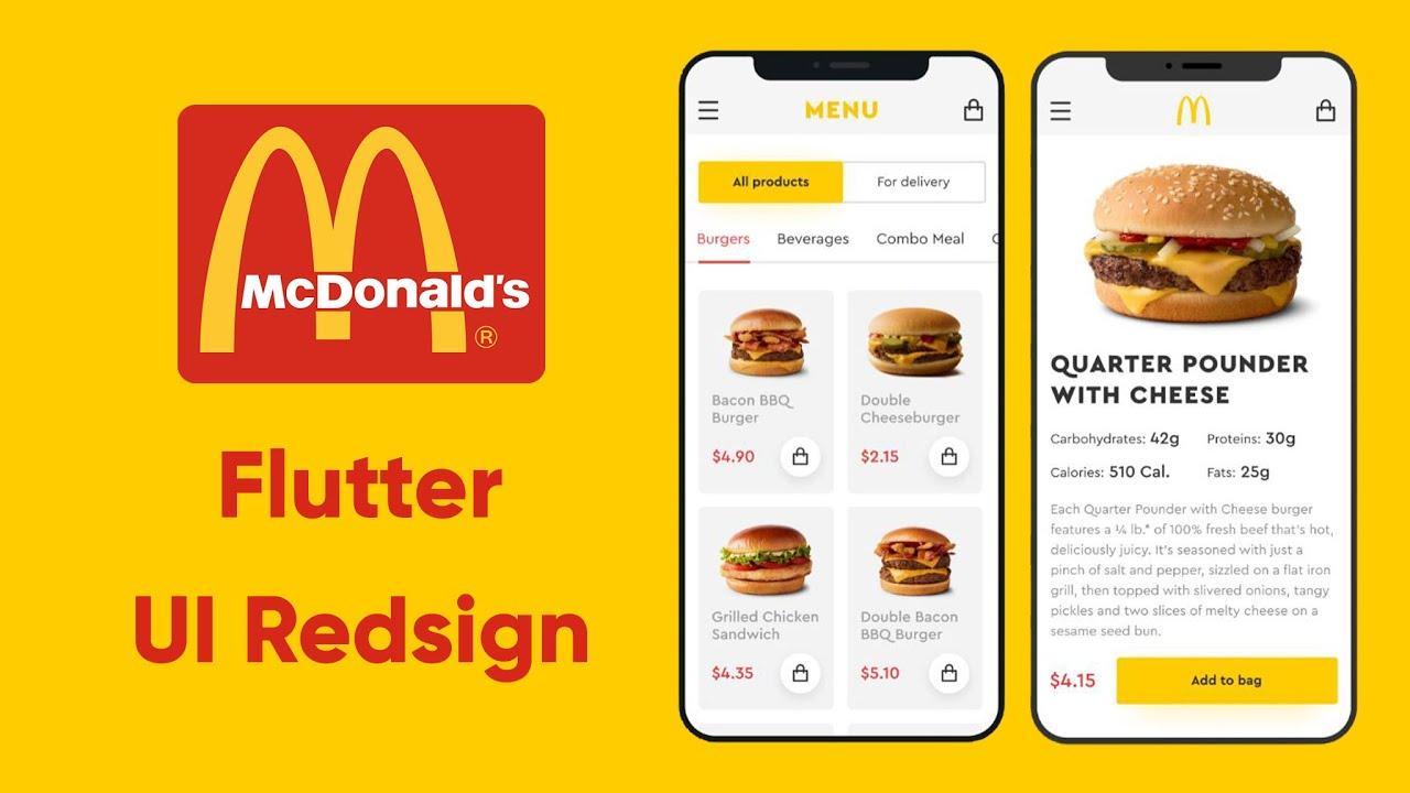 Flutter McDonald's app UI Redesign   Speed Code