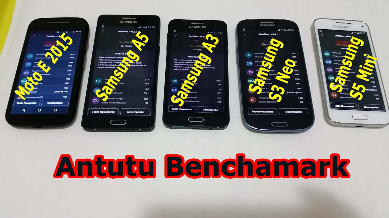 galaxy a5 galaxy a3 moto e 2015 s3 neo e s5 mini antutu benchmark portugu s youtube. Black Bedroom Furniture Sets. Home Design Ideas