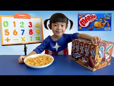 Bé Học Đếm Các Con Số Tiếng Việt Cùng Bánh Cá Marine Boy ❤ AnAn ToysReview TV ❤