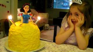 Dalia blowing out 4 candles - april 2010