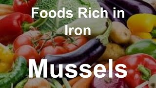 Foods Rich in Iron - Mussels