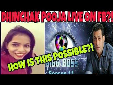 DHINCHAK POOJA LIVE FROM BIGG BOSS HOUSE?! | DHINCHAK POOJA LIVE ON  FACEBOOK IN BIGG BOSS 11, HOW?!