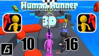 Human Runner 3D Gameplay - Race 10 - 16 (iOS)