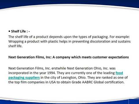 Next Gen Films: A Safe and Reliable Food Packaging Supplier