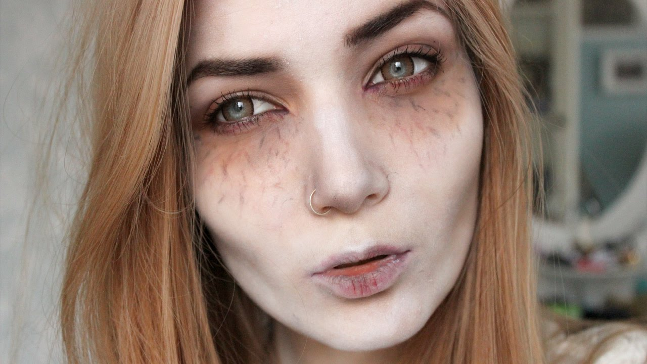 Pretty doll halloween makeup
