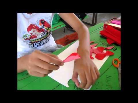 โครงงานเรื่อง การประดิษฐ์ดอกไม้จากกระดาษย่น