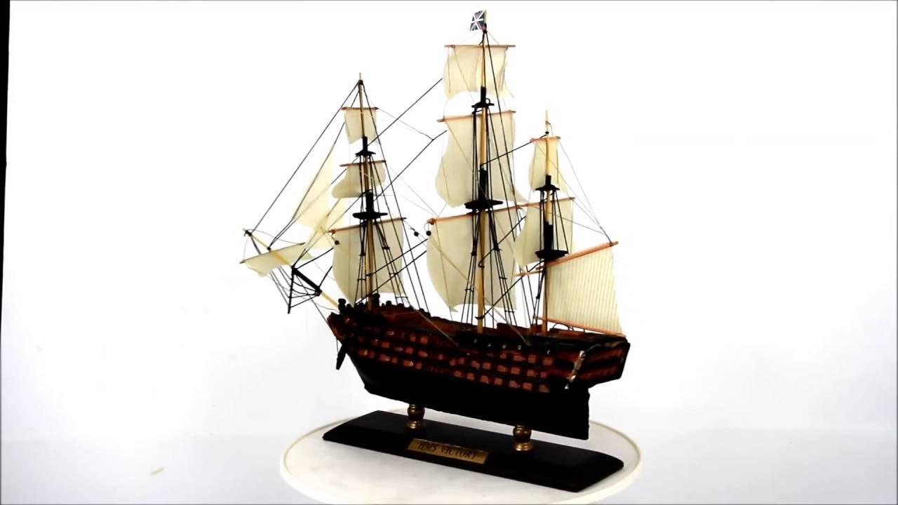 Модель парусного корабля HMS Bounty 30 см - YouTube