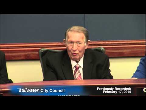Stillwater (Oklahoma) City Council 2-17-14