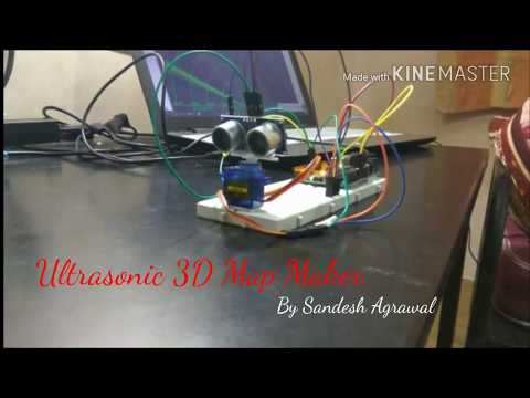 Ultrasonic 3D Map Maker and radar using Arduino Uno