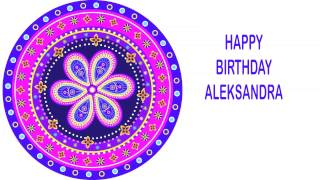 Aleksandra   Indian Designs - Happy Birthday