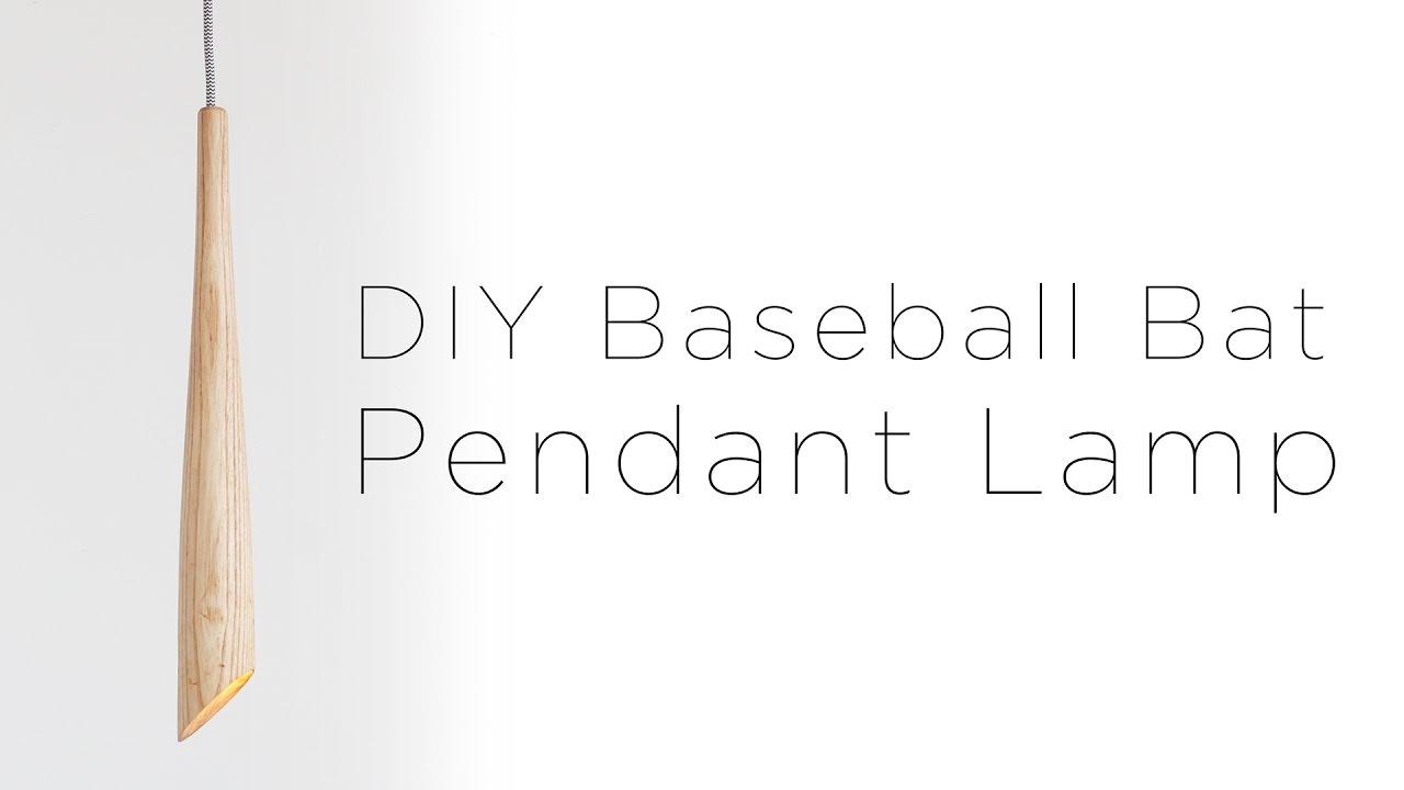 Diy Wooden Baseball Bat Lamp Youtube