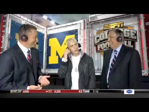 Eminem's ESPN interview is really awkward