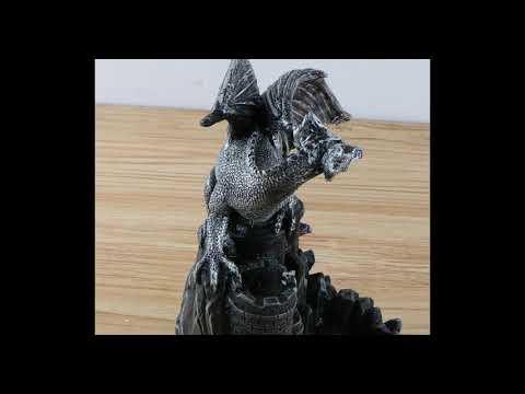 Resin Dragon on Castle Incense Burner