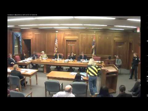 Board of Chosen Freeholders Public Meeting 3/12/14