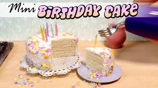 How To Miniature Birthday Cake Tutorial // DIY Miniature Food