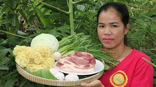 Yummy Cooking Fry Pork With Noodle China  Vegetable Recipe -  Eating Food Delicious -  Cooking Skill